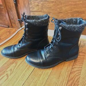Women's Madden Girl black combat boots size 7.5
